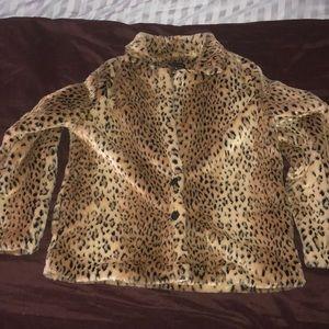 Kendal & Kylie Faux Leopard Fur Coat